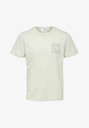 Print T-shirt - egret