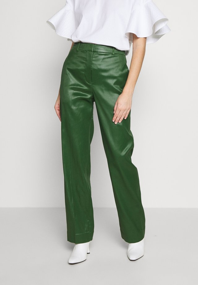 FULL LEG TROUSER - Trousers - vetiver green