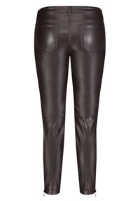 MAC - Leather trousers - brown - 3