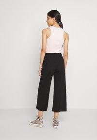 Even&Odd - TIE WAIST JERSEY CULOTTE - Trousers - black - 2