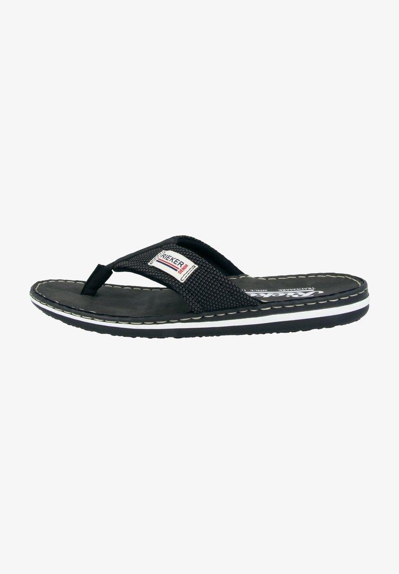 Rieker - T-bar sandals - black/grey