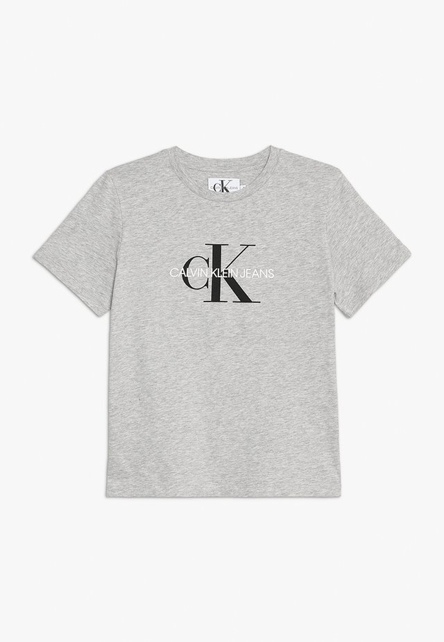 MONOGRAM LOGO - T-shirt print - light grey heather