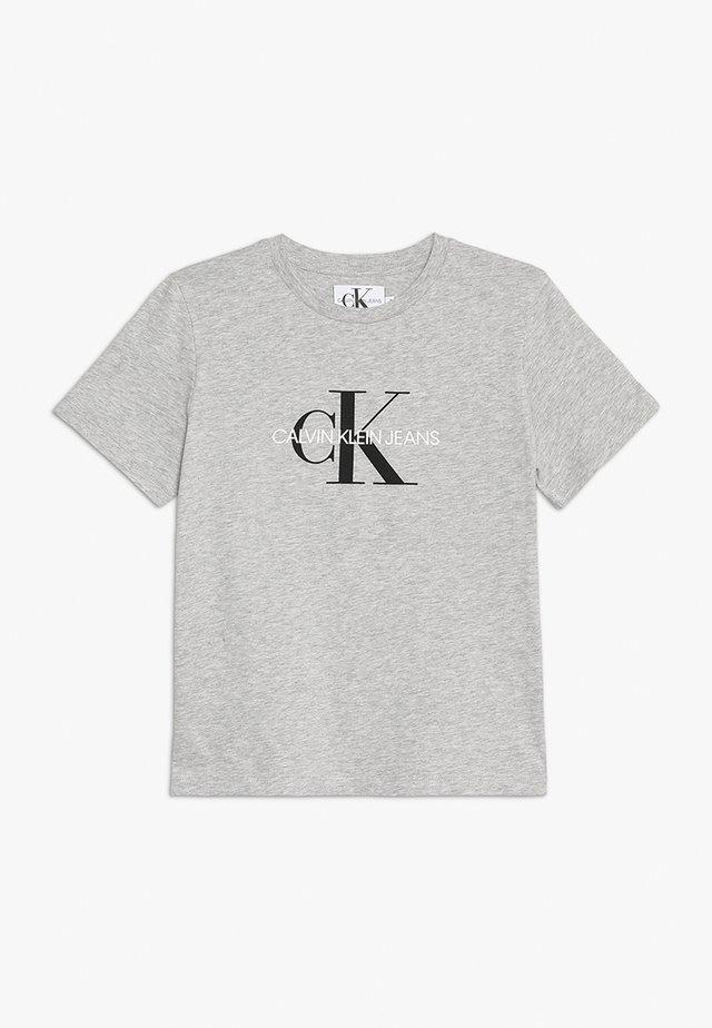 MONOGRAM LOGO - T-shirt med print - light grey heather