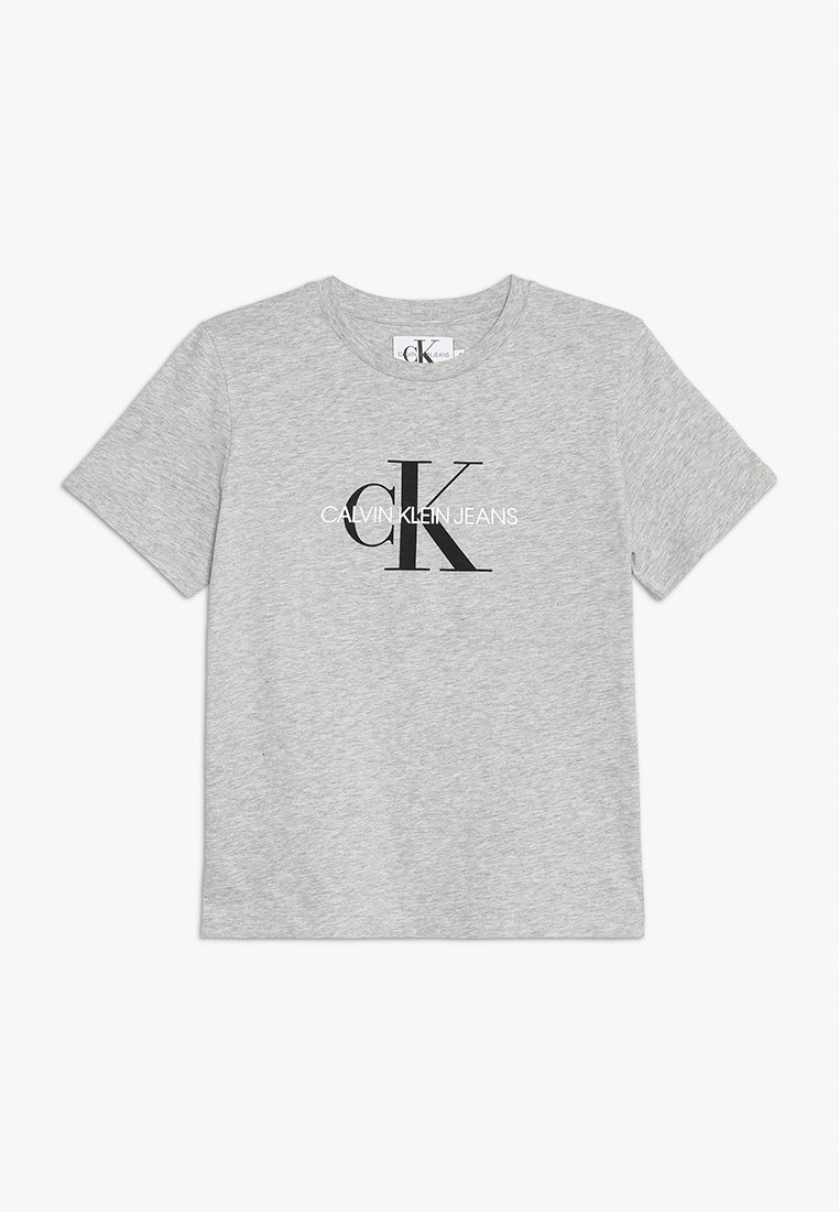 Calvin Klein Jeans - MONOGRAM LOGO - Print T-shirt - light grey heather