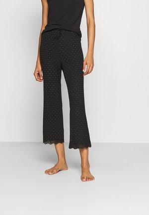 NIGHT TROUSERS DOT - Pyjama bottoms - black