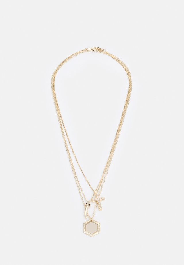 MIXED CHARM DROP MULTIROW NECKLACE UNISEX 3 PACK - Ketting - gold-coloured