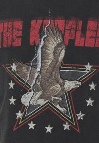 The Kooples - VINTAGE WASHED  - Print T-shirt - black - 5