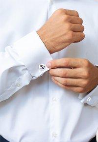 KUZZOI - ANKER - Boutons de manchette - silver-coloured - 0