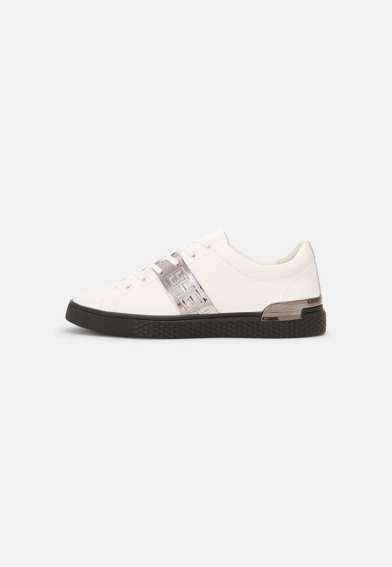 Ed Hardy - STRIPE TOP METALLIC - Sneakers basse - white/gunmetal