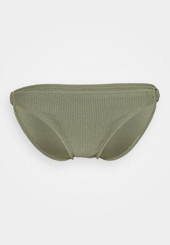 DECADENT TEXTURE LOGO SIDE RING BOTTOM - Bikini bottoms - army green