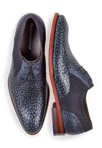 Floris van Bommel - Smart lace-ups - blue - 1