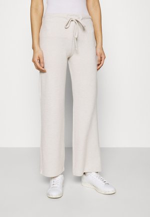 WIDE LEG BRUSHED TROUSER - Trousers - oatmeal