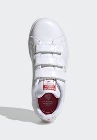 adidas Originals - STAN SMITH CF C PRIMEGREEN ORIGINALS SNEAKERS SHOES - Sneakers laag - white/vivid red - 3