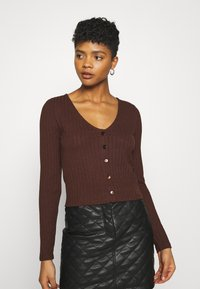 Nly by Nelly - BUTTON UP - Gilet - brown - 0
