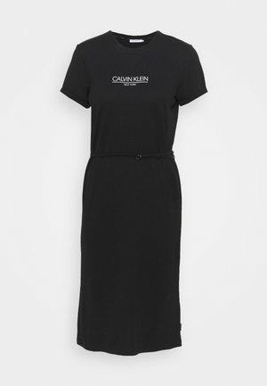 LOGO DRESS - Žerzejové šaty - black