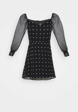 MIX SPOT DRESS - Vestido informal - black