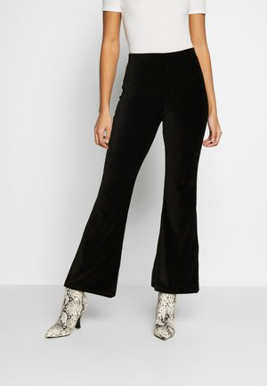 ERIKA TROUSERS - Pantaloni - black