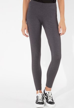 BASIC - Leggings - Trousers - dark grey mel