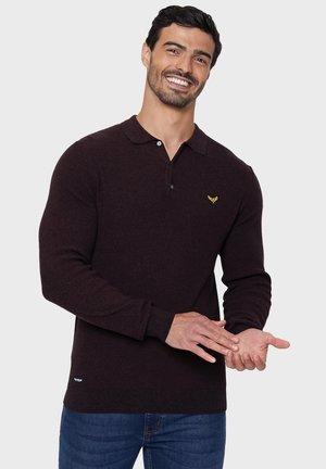 NORWAY - Polo shirt - burgundy/black