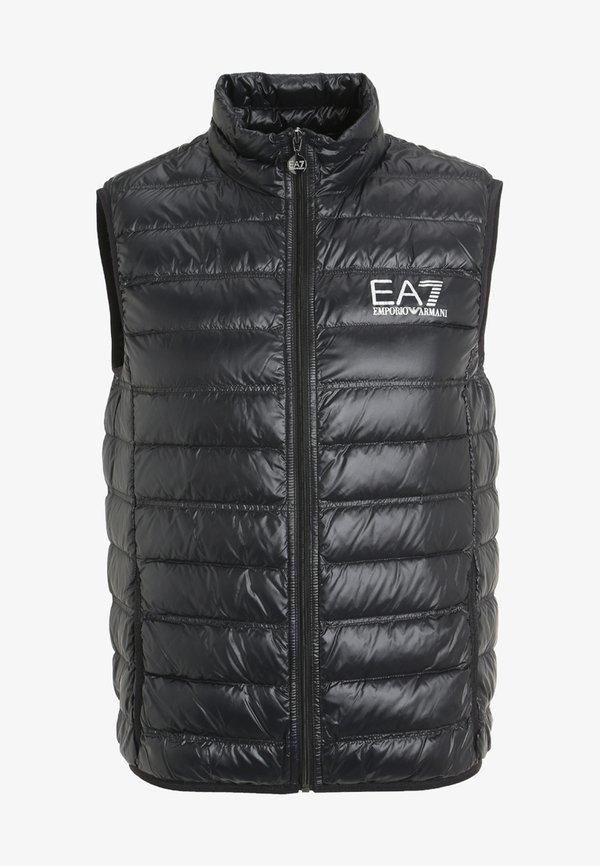 EA7 Emporio Armani Kamizelka - black/czarny Odzież Męska DMPL