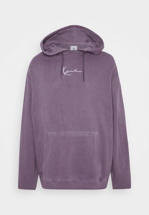 SMALL SIGNATURE WASHED HOODIE UNISEX - Huppari - purple