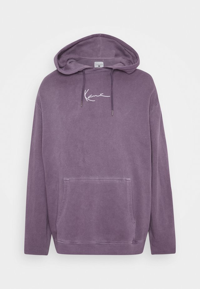 SMALL SIGNATURE WASHED HOODIE UNISEX - Hoodie - purple