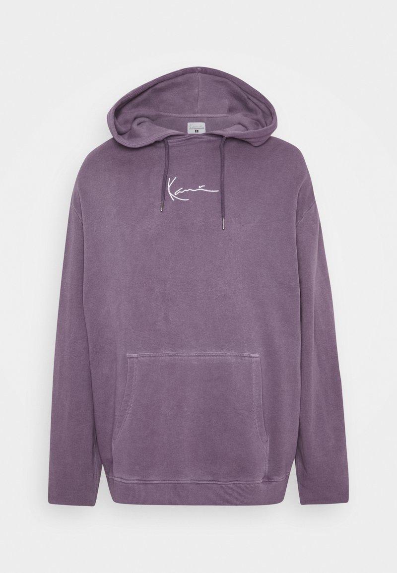 Karl Kani - SMALL SIGNATURE WASHED HOODIE UNISEX - Hoodie - purple