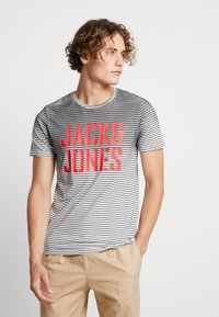 Jack & Jones - JCODROWN TEE CREW NECK - T-shirt print - black - 0