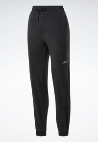 Reebok - MYT WARM-UP JOGGERS - Tracksuit bottoms - black - 7