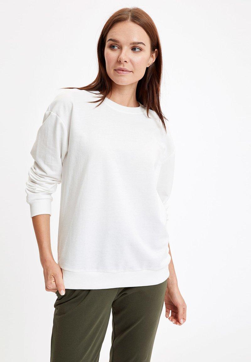 DeFacto - SWEATSHIRT - Sweatshirt - ecru