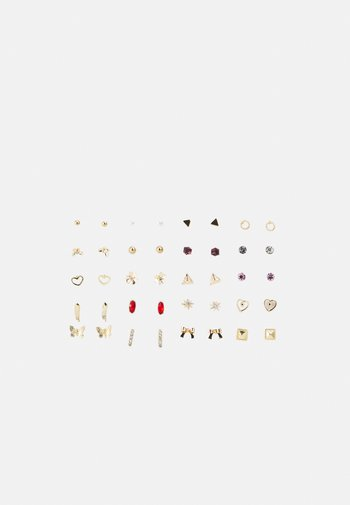 PCQAMIRA EARSTUDS KEY 20 PACK - Earrings - gold-coloured