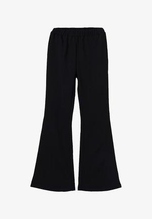 METTE TRUMPET PANT - Spodnie materiałowe - black