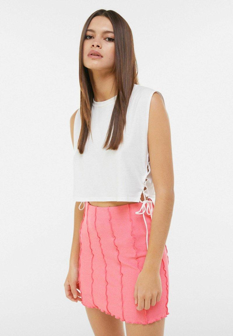 Bershka - A-line skirt - pink