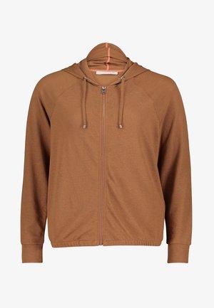 Zip-up sweatshirt - toffee