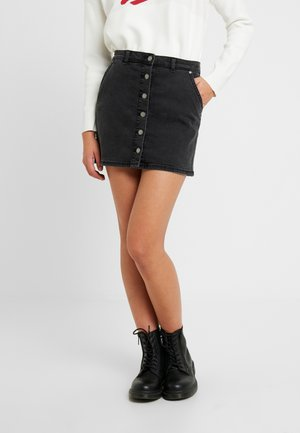 WILD YOUNG - Denim skirt - anthracite