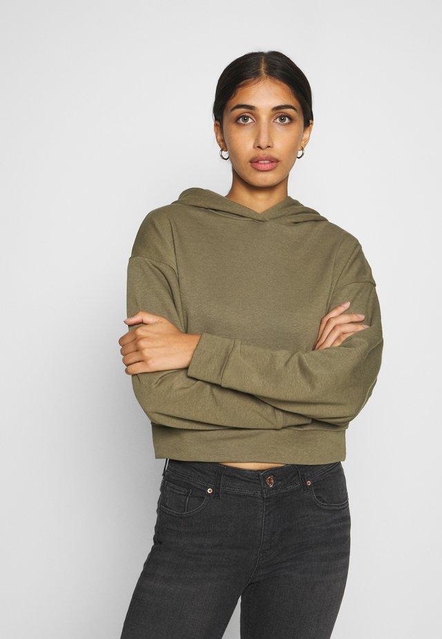 JDYKAMIL CROPPED - Bluza z kapturem - dusky green