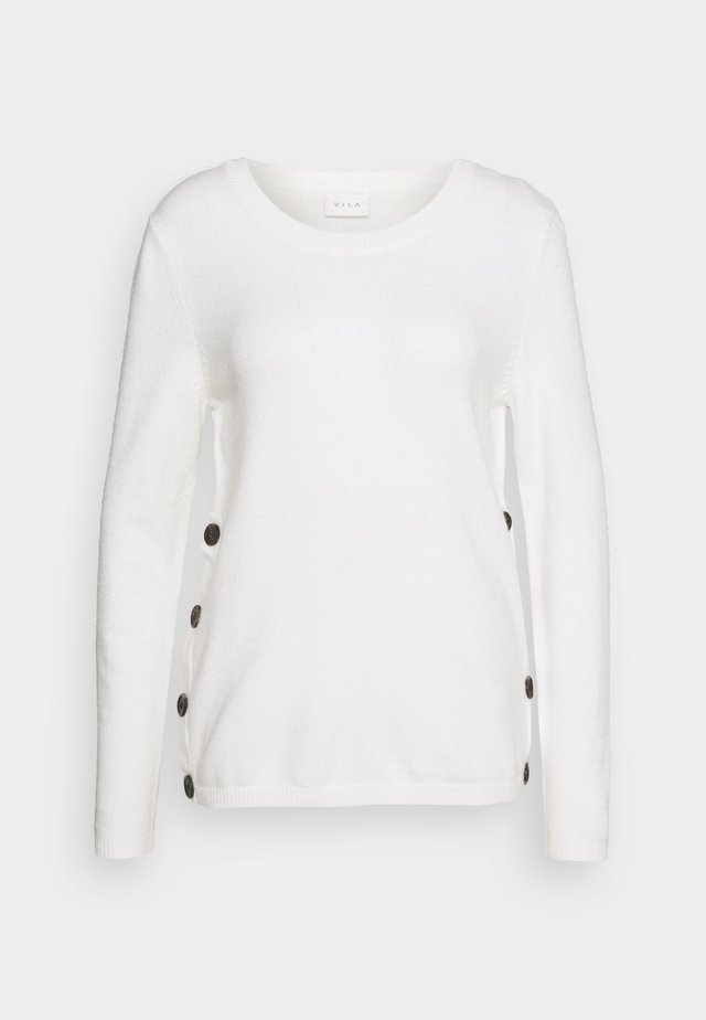 VIRIL BUTTONED ONECK - Maglione - whisper white