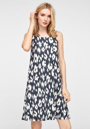 Jersey dress - navy leo
