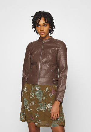 VMLOVE SHORT COATED JACKET - Faux leather jacket - rocky road