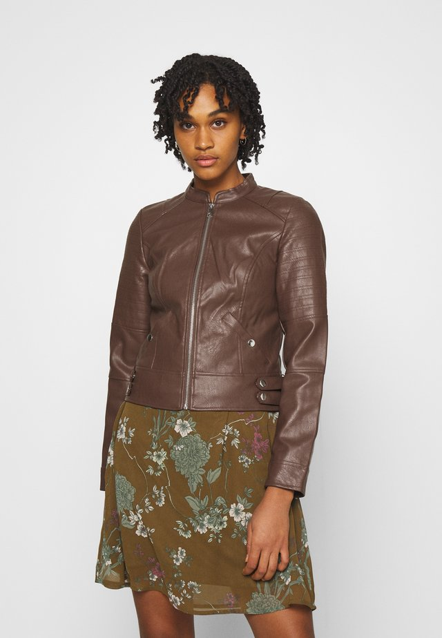 VMLOVE SHORT COATED JACKET - Giacca in similpelle - rocky road