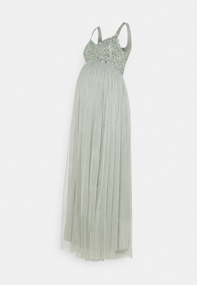 SWEETHEART NECKLINE EMBELLISHED BODICE MAXI DRESS - Iltapuku - green