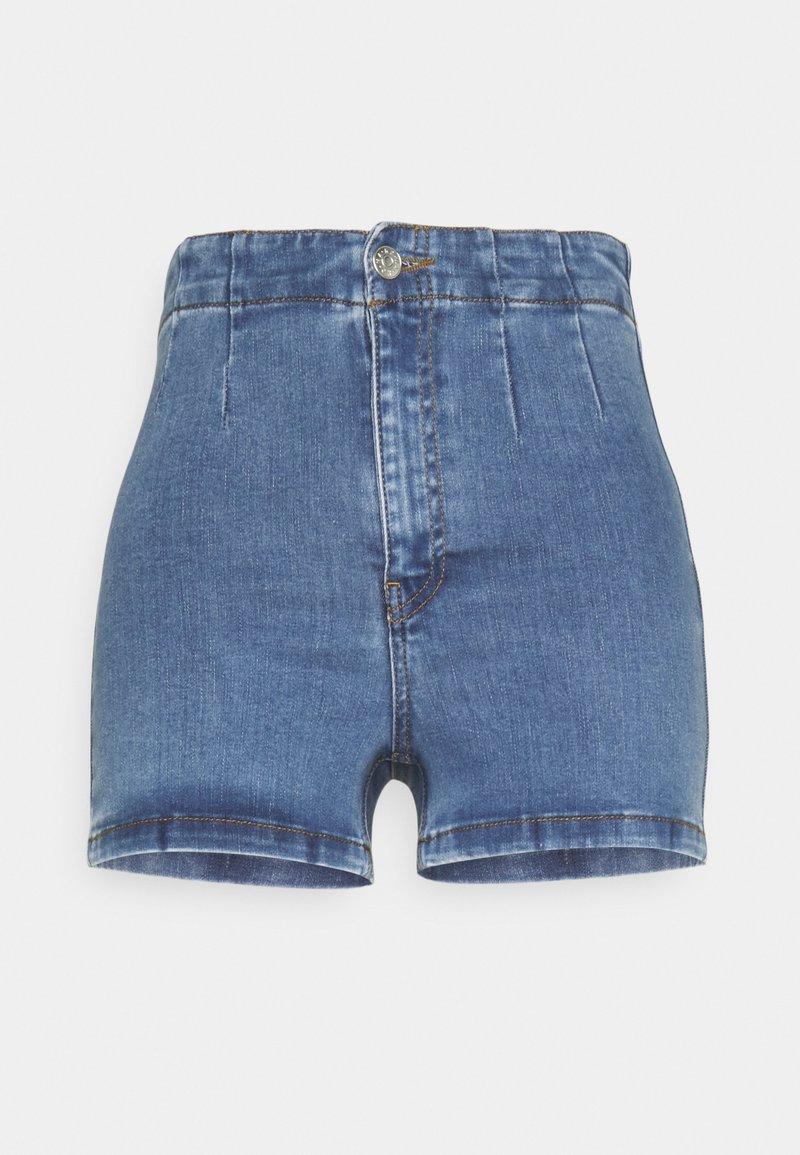 NA-KD - BASIC - Denim shorts - blue