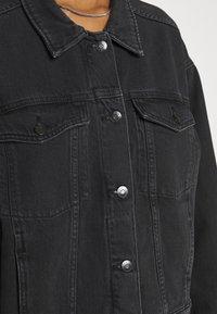 Monki - BONNIE JACKET - Denim jacket - black dark - 5