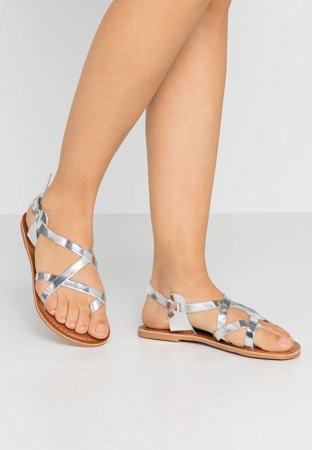 JAMIE GLADIATOR - T-bar sandals - silver
