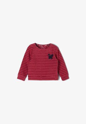 Sweatshirt - pink stripes