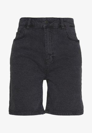 SORINA - Denim shorts - black