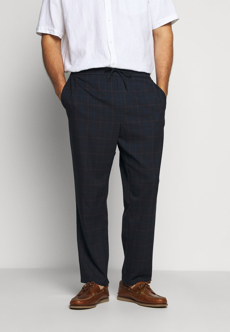 Only & Sons - ONSLINUS LONG CHECK - Trousers - dark navy