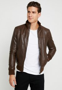 Serge Pariente - SOUL - Leather jacket - mocca - 0
