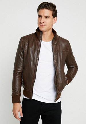 SOUL - Leather jacket - mocca