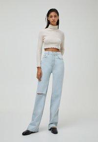 PULL&BEAR - Jeans Straight Leg - mottled dark blue - 1
